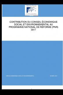 Contribution du CESE au programme national de réforme