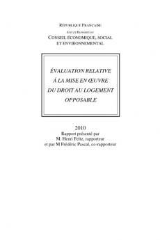 Evaluation relative à la mise en oeuvre du droit au logement opposable