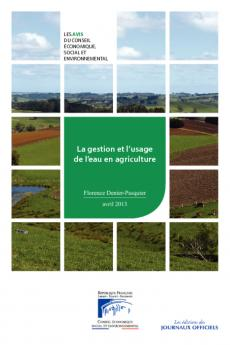 La gestion et l'usage de l'eau en agriculture