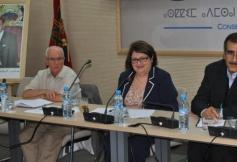 Geneviève Bel, Présidente de la DDFE, en mission au CESE du Maroc en juin 2013