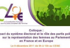 9 décembre - L'impact du système électoral et le rôle des partis politiques sur la représentation des femmes
