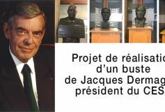 Le CESE réalise un buste de Jacques Dermagne, ancien président du Conseil