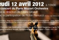 Concert du Paris Mozart Orchestra - 12 avril 2012