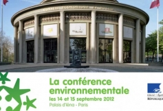 Conférence environnementale au Palais d'Iéna