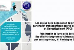 Le CESE a rendu ses préconisations sur le projet de partenariat transatlantique pour le commerce et l'investissement (PTCI)