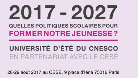 Université d'été du CNESCO en partenariat avec le CESE